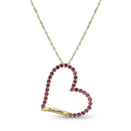 Heart-Shaped Birthstone Pendant: Moxie
