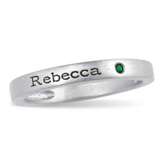 Personalized Stackable Ring with Birthstone