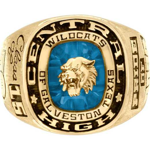 Men's Athletic Class Ring with Crest or Mascot: All-American