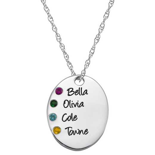 Mother' Oval Pendant with 1-4 Stones and Engravings – Always