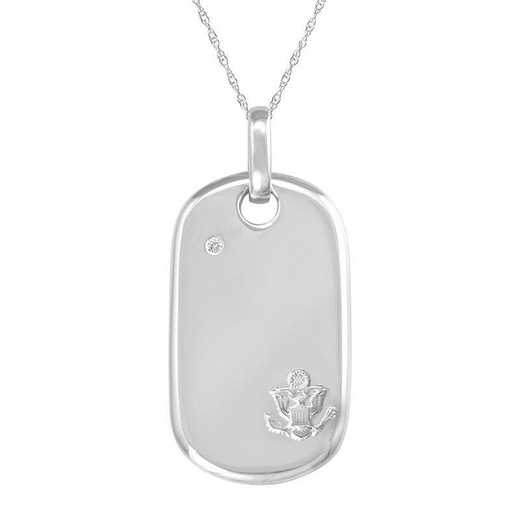 Amazon Item: ArtCarved Sterling Silver US Army Dog Tag Pendant
