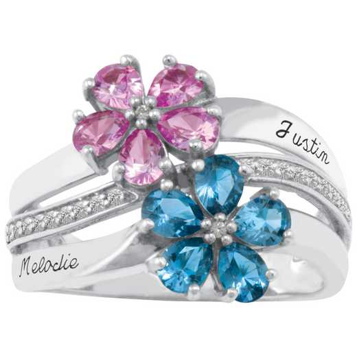 Aspire Multi-Stone Flower Ring
