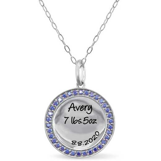 Personalized Circle Pendant: Avery
