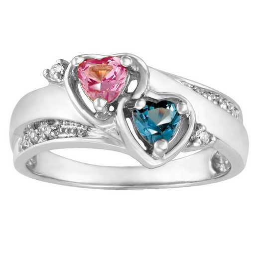 Women's Two Hearts Promise Ring: Be Mine Quick Ship