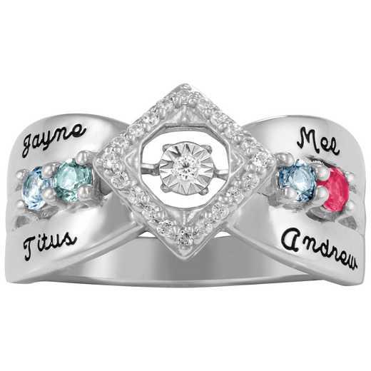 Glimmering Gemstones Beguiled Ring