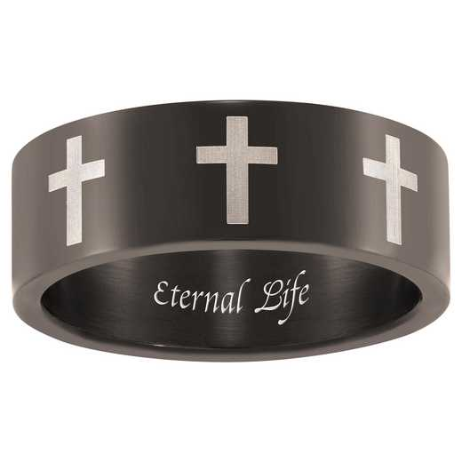 Men's Cross-Patterned Stainless-Steel Band: Belief