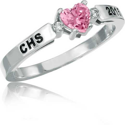 Women's Heart-Shaped Personalized Class Ring: Beloved