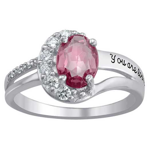 Ladies' Seven-Birthstone Mother's Ring: Blissful Oval