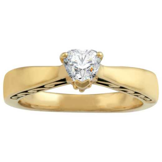 Ladies' Heart-Shaped Birthstones Ring: Bonded