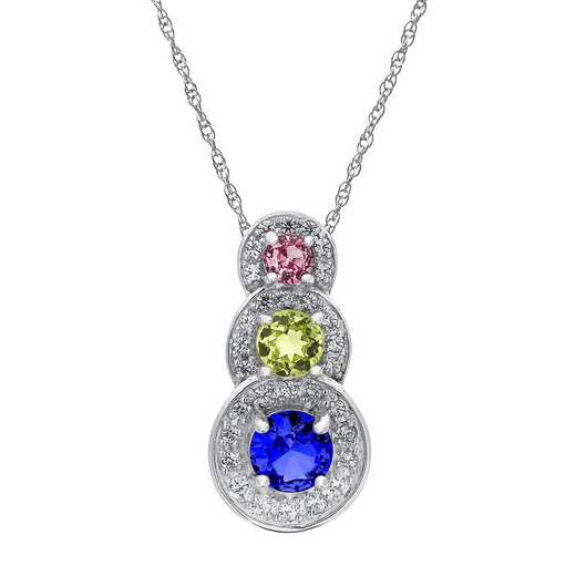Ladies' Three-Stone Cascading Circle Pendant: Brooke