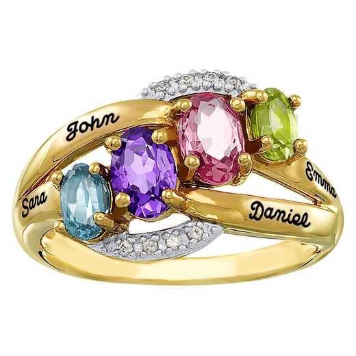 Women's Four-Stone Family Ring: Celeste