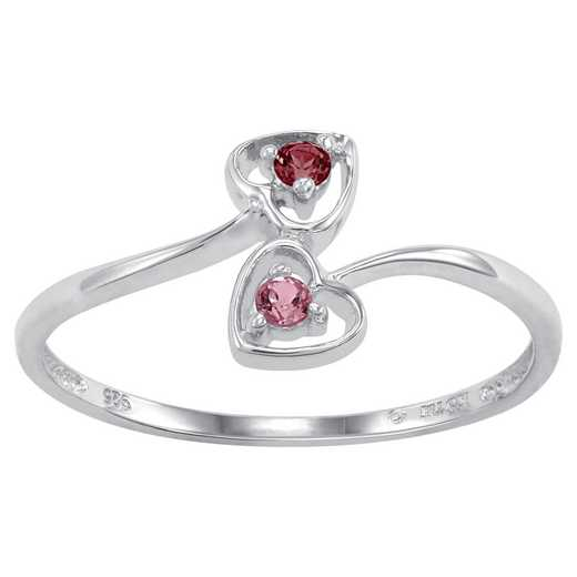 Couples Two-Stone Heart Ring: Chorus Quick Ship