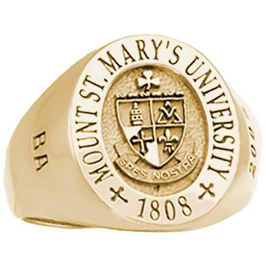 Mount Saint Mary's University Class of 2010 Men's Signet Ring