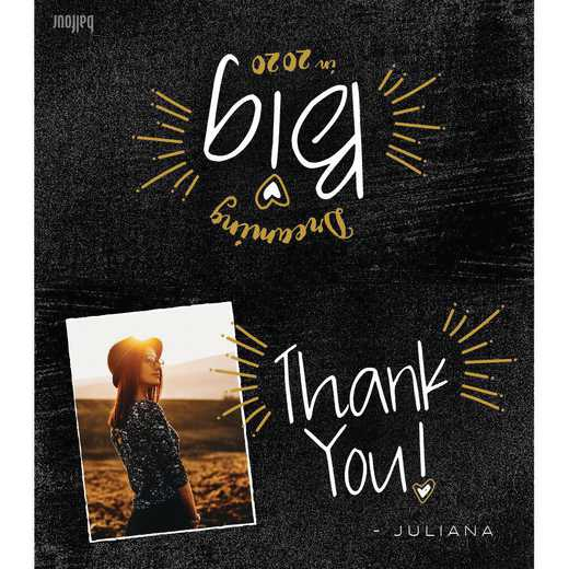 Custom Contemporary Photo Thank You Notes