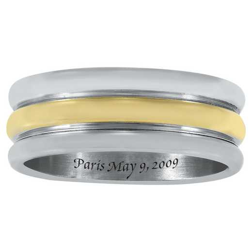 Men's Two-Tone Stainless-Steel Band: Crete