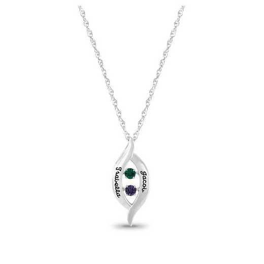 Glimmer Gemstones Crossover Pendant