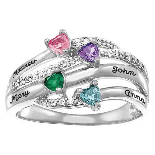 Mother's Flowing Currents Ring
