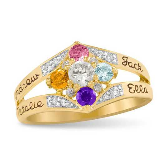 Mother's Multi-Birthstone Ring: Daydream