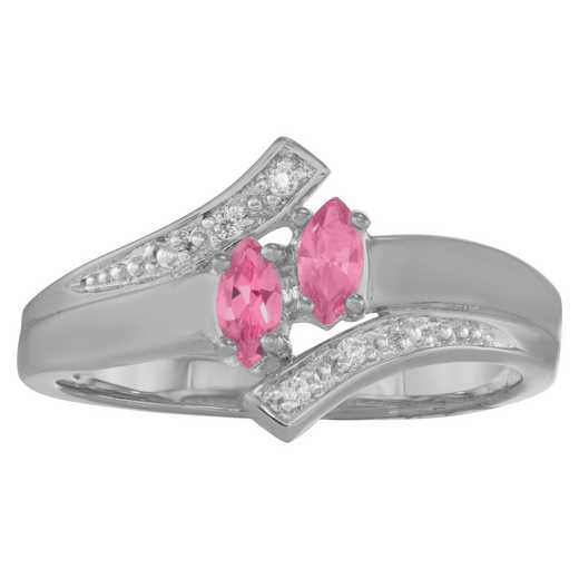 Women's Double Marquise Promise Ring: Delight Quick Ship