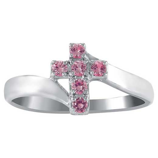 Ladies' Holy Cross Birthstone Ring: Devotion