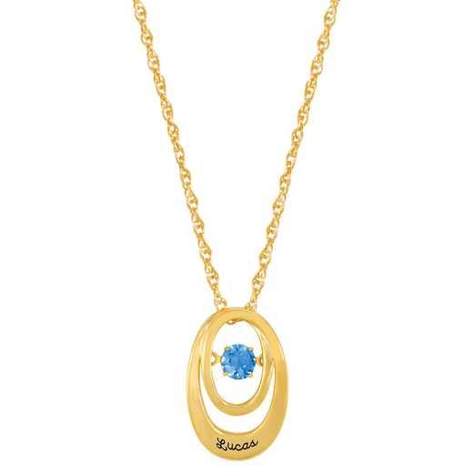 Glimmering Gemstones Divine Pendant