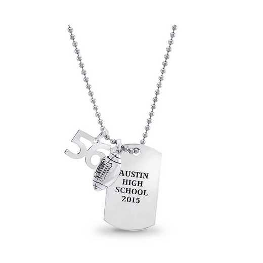 Personalized Dog Tag Class Pendant with Charms