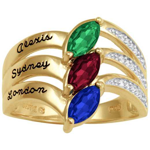 Ladies' Family Ring with Marquise-Cut Birthstones: Dream