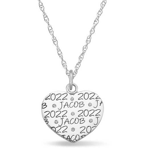 Heart-Shaped Personalized Pendant: Echo