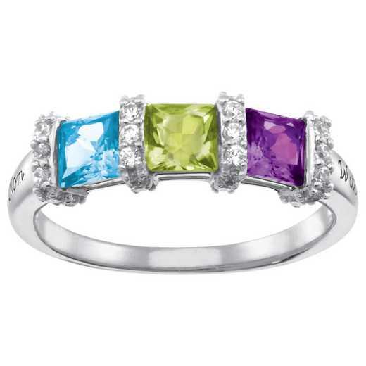 Triple Birthstone Ring: Ella