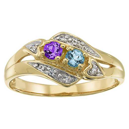 Ladies' Multi-Stone Ring with Heart-Shaped Diamond Accents: Enchanting