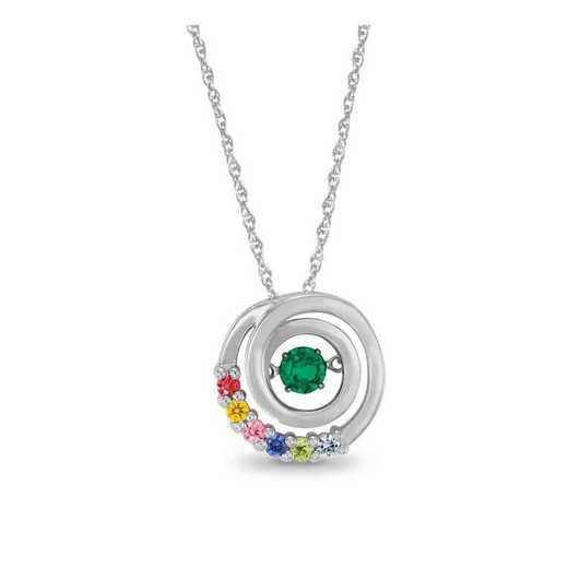 Glimmering Gemstones Encircled Pendant
