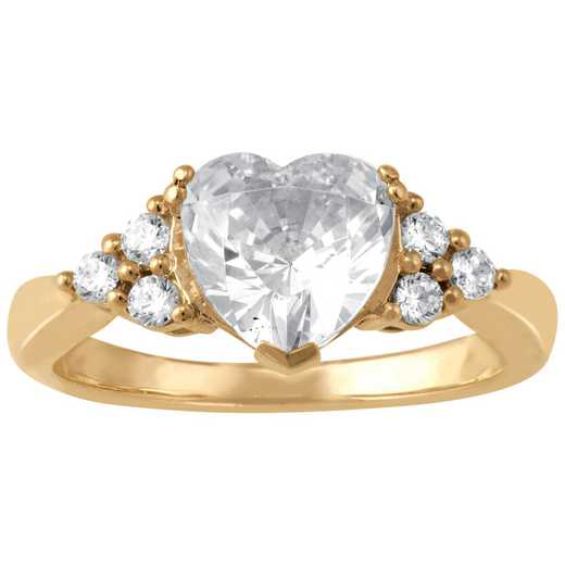 Heart-Shaped CZ Promise Ring: Endlessly