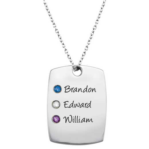 Personalized Family Name Pendant: Eternally