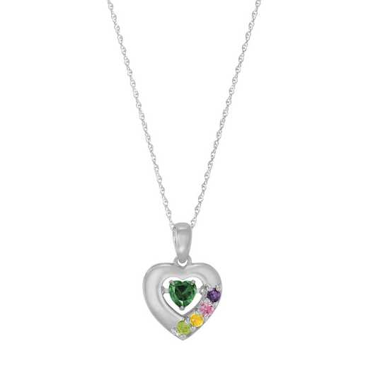 Glimmering Gemstones Flutter Heart Necklace