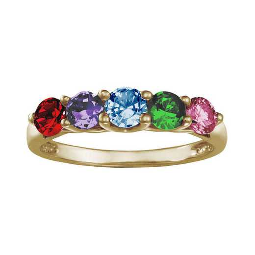 Mother's Birthstone Ring with 3 or 5 Round Stones: Garland