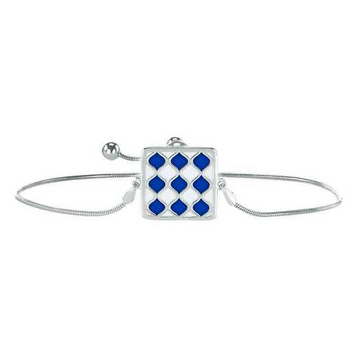 Ladies' Alum Diamond Pattern Square Pendant Bracelet