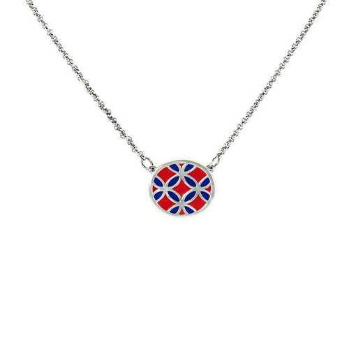 Ladies' Virtuoso Floral Round Pendant Necklace