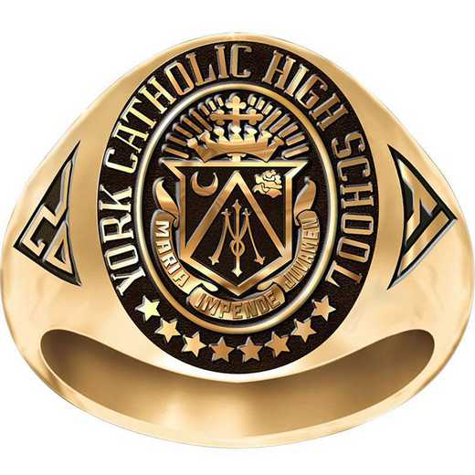 York Catholic High Signet Ring-His
