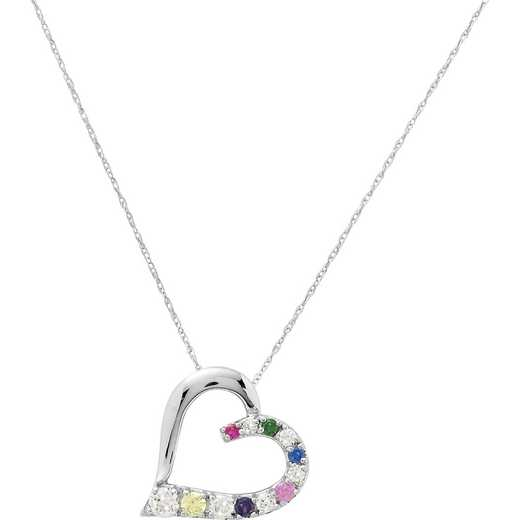 Heart's Journey Women's Birthstone Pendant Necklace