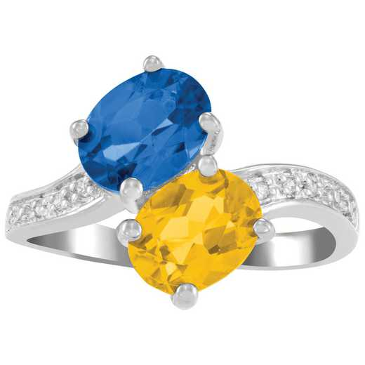 Ladies' Oval Birthstone Promise Ring: Honesty Quick Ship