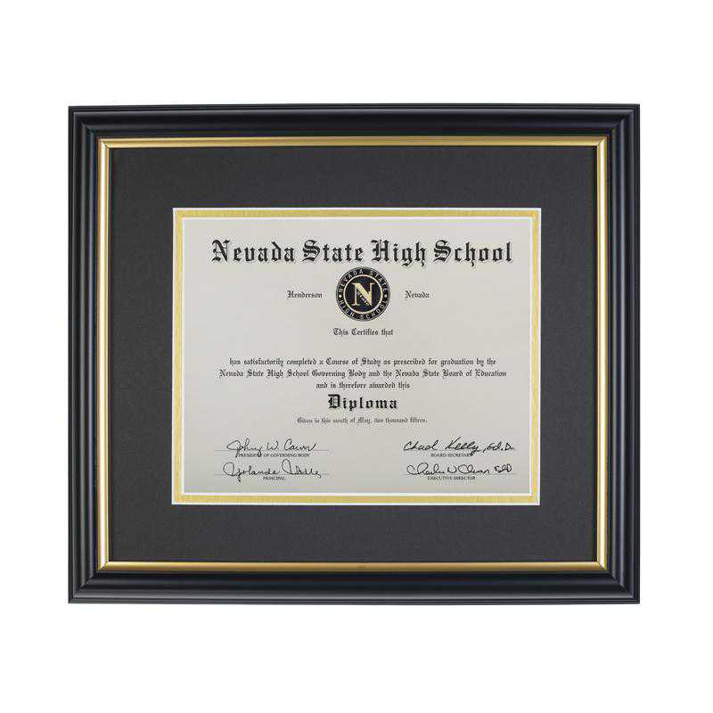 K021932: Diploma Frame for 8x10 Graduation Diploma