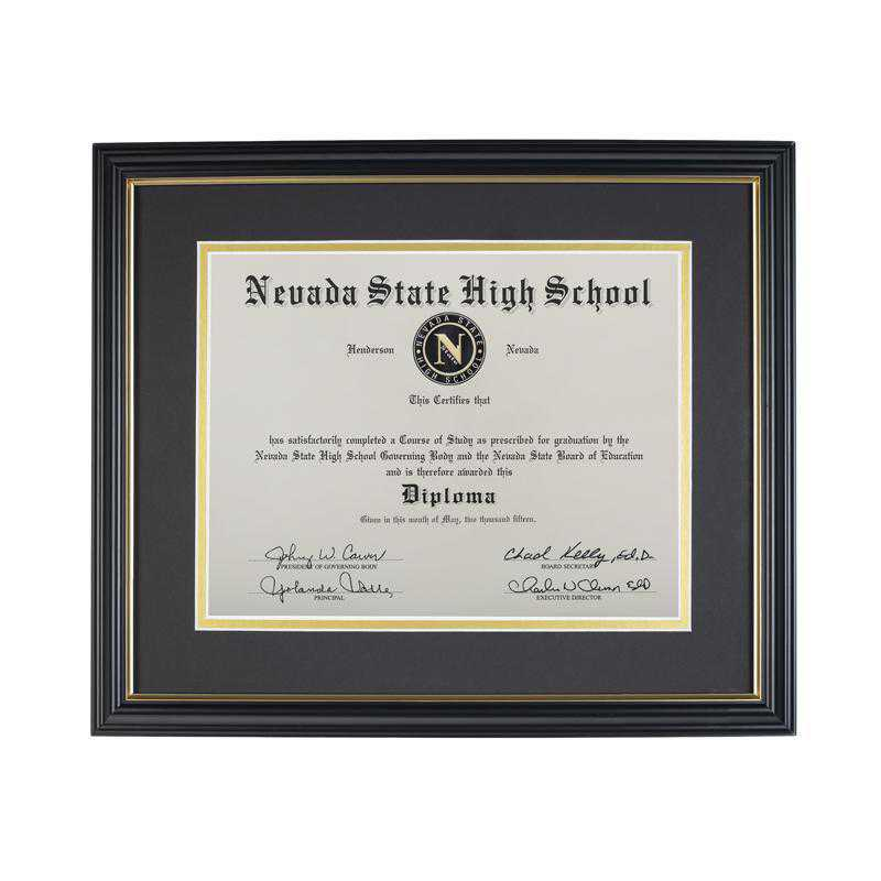 K021933: Diploma Frame for 8.5x11 Graduation Diploma