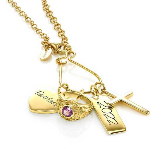 Graduation Charm Necklace by Liz James - 14K Gold