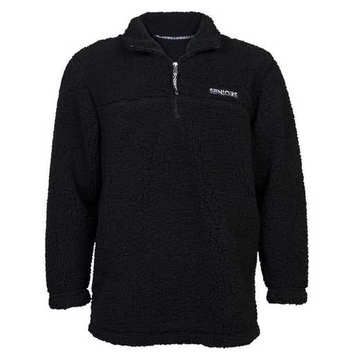 Men's 2021 Seniors Sherpa 1/4 Zip Pullover, Black