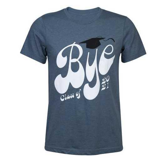Class of 2021 Bye T-Shirt, Bluish-Gray