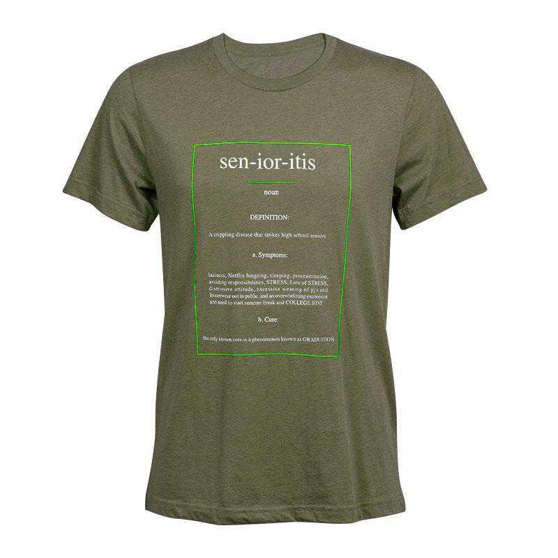 Senioritis 2021 T-Shirt, Olive