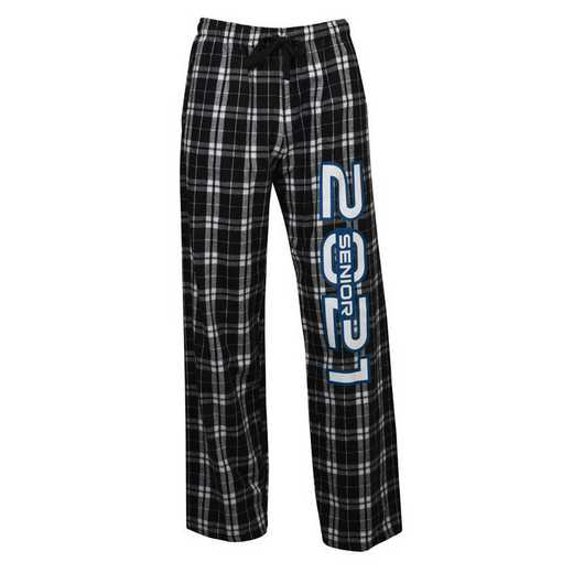 Men's Class of 2021 Flannel Pajama Pants, Black/Grey