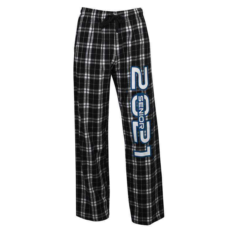 Men's Class of 2021 Flannel Pajama Pants, Black/Grey