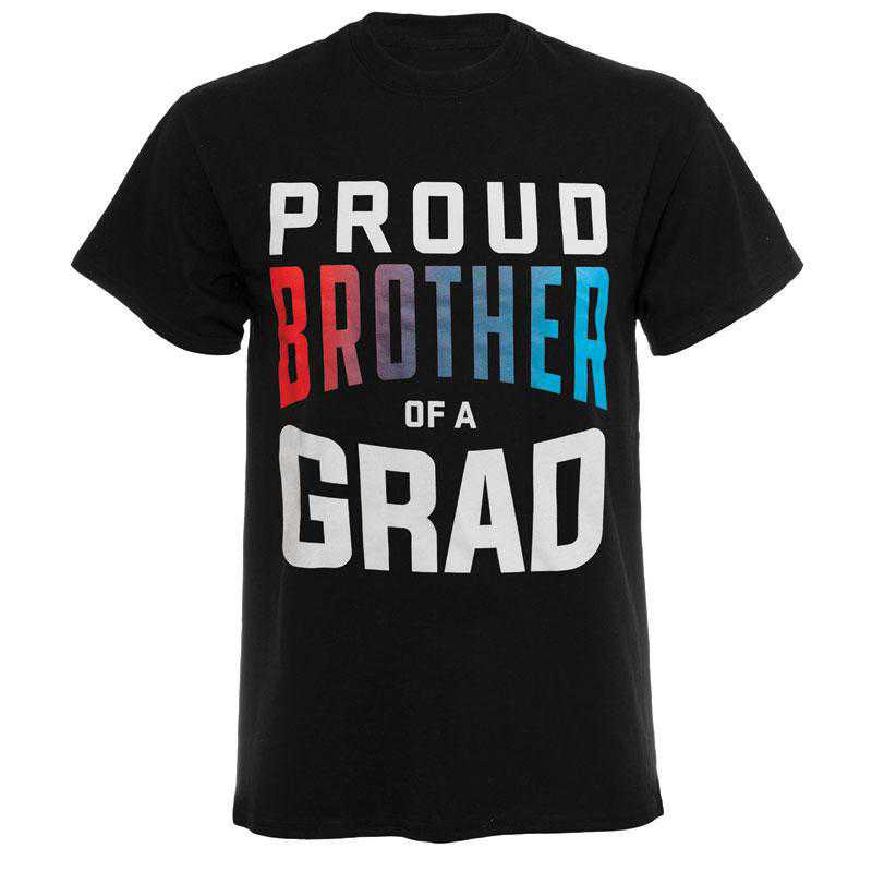 Proud Brother of a Grad 2021 T-Shirt, Black