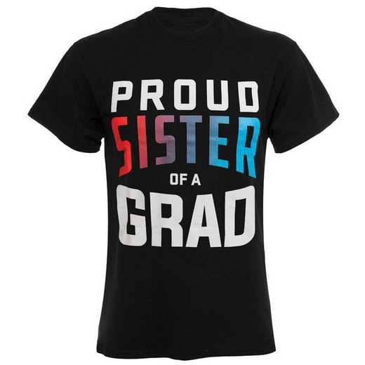 Proud Sister of a Grad 2021 T-Shirt, Black